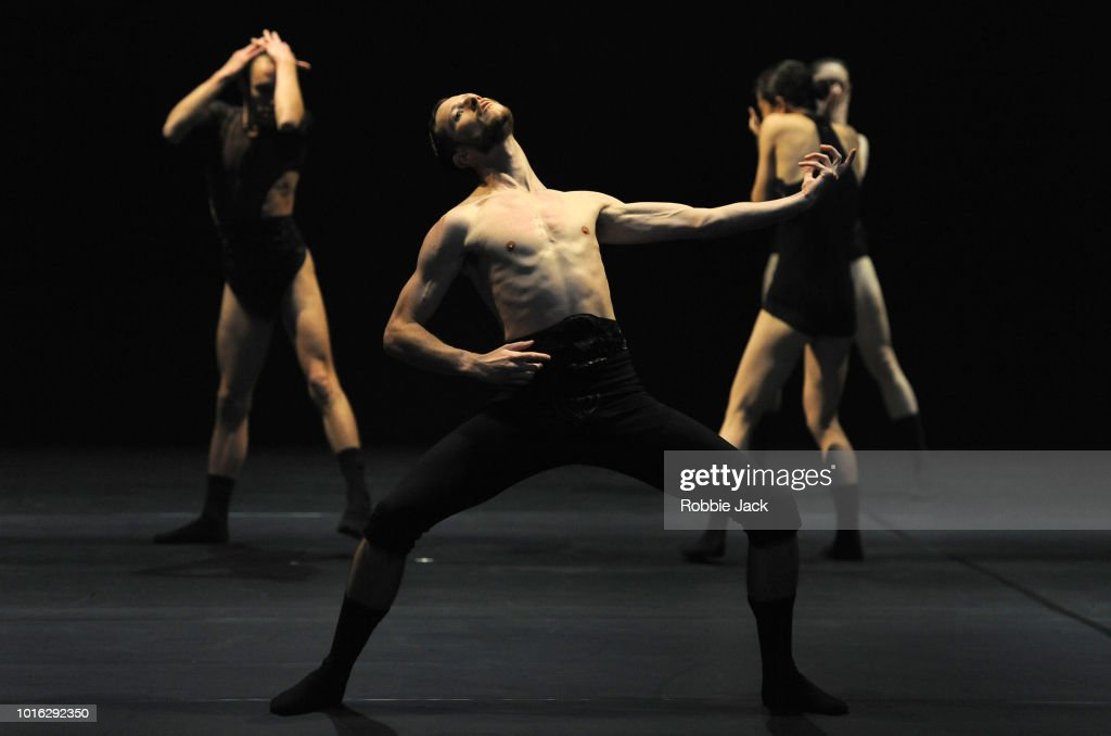 Artists of the company in L-E-V Dance Company's production of Sharon Eyal's OCD Love as part of the Edinburgh International Festival 2018 on August 2, 2018 in Edinburgh, Scotland.