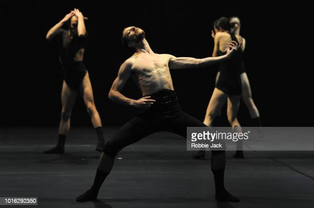 Artists of the company in L-E-V Dance Company's production of Sharon Eyal's OCD Love as part of the Edinburgh International Festival 2018 on August...