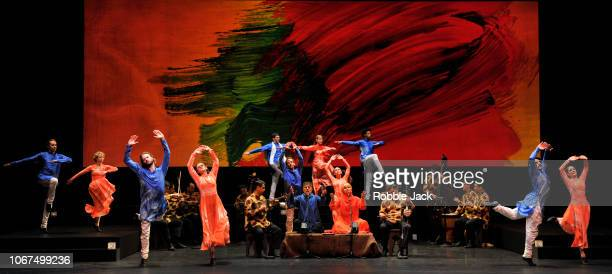 Artists of the company in Mark Morris'u2019s Layla and Majnun at Sadler's Wells Theatre on November 13 2018 in London England