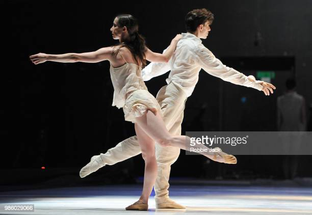 Artists of the company in Nederlands Dans Theatre 1's production of Sol Leon and Paul Lightfoot's Stop-Motion at Sadler's Wells Theatre on June 26,...
