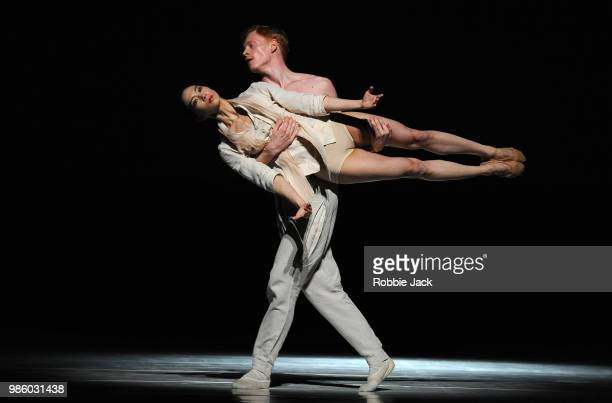 Artists of the company in Nederlands Dans Theatre 1's production of Sol Leon and Paul Lightfoot's StopMotion at Sadler's Wells Theatre on June 26...