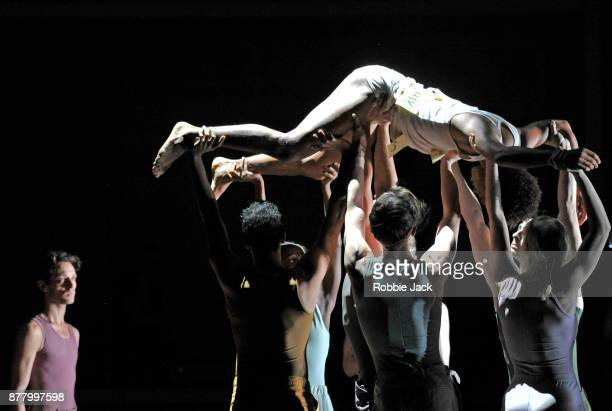 Artists of the company in Rambert's production of Ben Duke's Goat at Sadler's Wells Theatre on November 21 2017 in London England