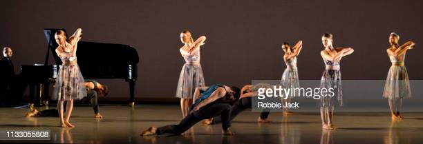 Artists of the company in Richard Alston's Brahms Hungarian at Sadlers Wells Theatre on February 27 2019 in London England