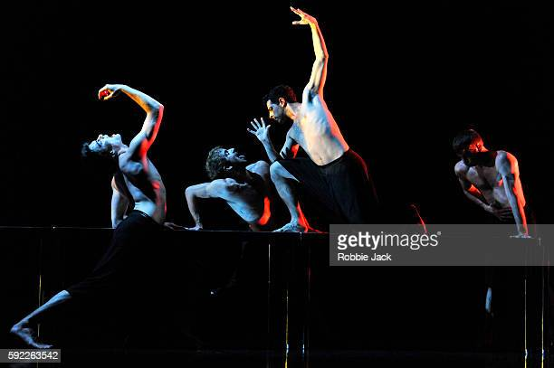 Artists of the company in Scottish Ballet's production of Angelin Preljocaj's MC14/22 at the Festival Theatre as part of the Edinburgh International...