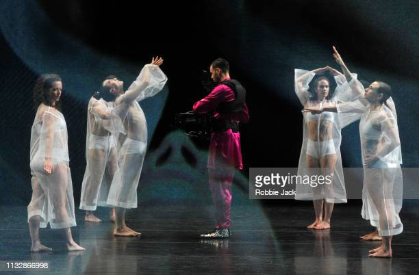 Artists of the company in Tesseract at The Barbican Theatre on February 27, 2019 in London, England. Choreographic duo Rashaun Mitchell and Silas...