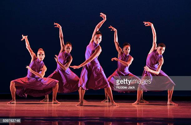 Artists of the company in the Alvin Ailey American Dance Theatre's production of Christopher Huggins Anointed at Sadlers Wells in London