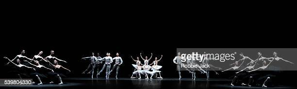 Artists of the company in the English National Ballet's production of Harald Lander's Etudes at the London Coliseum