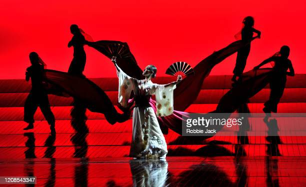 Artists of the company in the English National Opera's production of Giacomo Puccini's Madam Butterfly at the London Coliseum on February 24 2020 in...