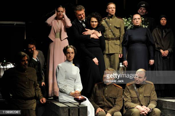 Artists of the company in The Maly Drama Theatre of St Petersburg's production of Anton Chekhov's Three Sisters directed by Lev Dodin at Vaudeville...