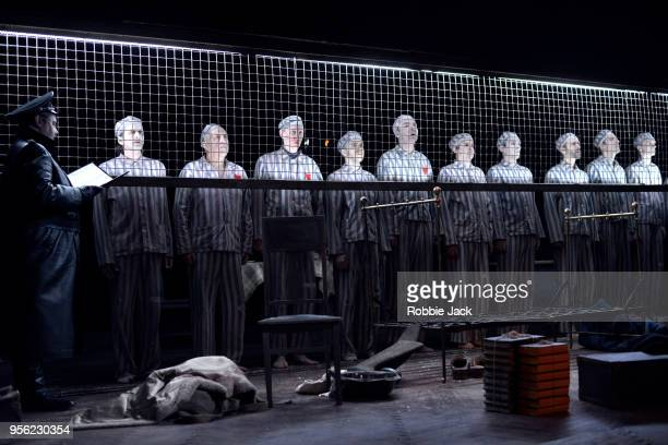 Artists of the company in the Maly Drama Theatre's production of Vasily Grossman's Life and Fate directed by Lev Dodin at Theatre Royal Haymarket on...