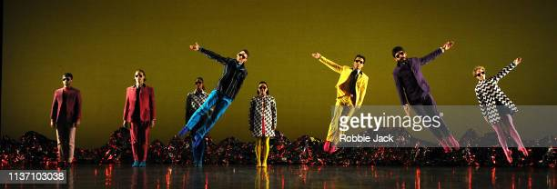 Artists of the company in The Mark Morris Dance Group production Pepperland at Sadler's Wells on March 18 2019 in London England Mark Morris Dance...