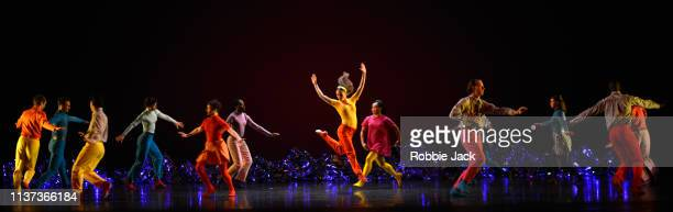 Artists of the company in The Mark Morris Dance Group's production of Mark Morris's Pepperland at Sadler's Wells Theatre on March 18 2019 in London...