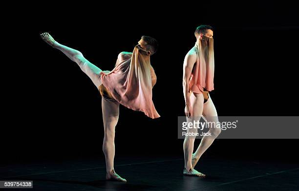 Artists of the company in the Michael Clark Company production of come been and gone at the Barbican in London