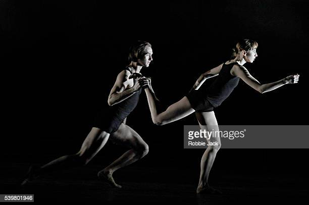 Artists of the company in the Mikailovsky Ballet's production of Nacho Duato's Multiplicity Forms of Silence and Emptiness at the London Coliseum