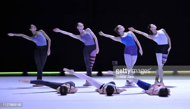 Artists of the company in The Royal Ballet's production of Aletta Collins' Blue Moon at The Royal Opera House on February 6 2019 in London England