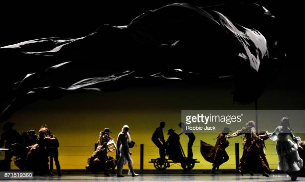 Artists of the company in the Royal Ballet's production of Arthur Pita's The Wind at The Royal Opera House on November 3 2017 in London England
