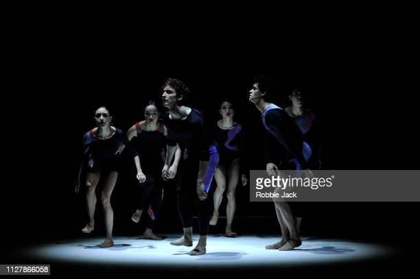 Artists of the company in The Royal Ballet's production of Calvin Richardson's Something Borrowed at The Royal Opera House on February 6 2019 in...