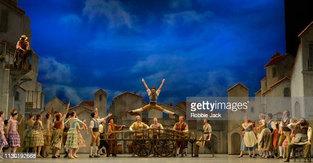 Artists of the company in The Royal Ballet's production of Carlos Acosta's adaptation of Marius Petipa's Don Quixote at The Royal Opera House on...