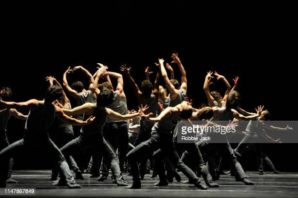 Artists of the company in the Royal Ballet's production of Crystal Pite's Flight Pattern at the Royal Opera House in London United Kingdom