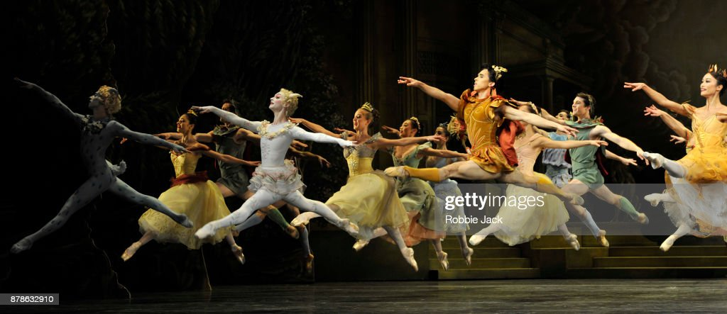 Artists of the company in the Royal Ballet's production of Frederick Ashton's Sylvia at the Royal Opera House on November 21, 2017 in London, England.