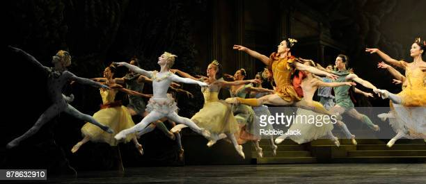 Artists of the company in the Royal Ballet's production of Frederick Ashton's Sylvia at the Royal Opera House on November 21 2017 in London England