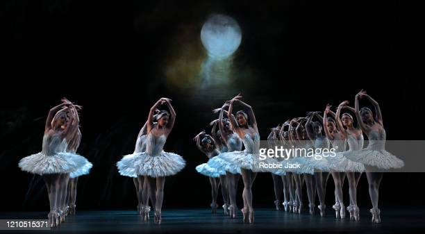 Artists of the company in The Royal Ballet's production of Lev Ivanov and Marius Petipa's Swan Lake with added choreography by Liam Scarlett and...
