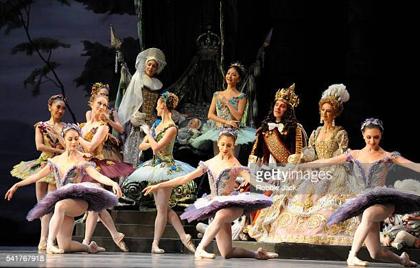 Artists of the company in the Royal Ballet's production of Marius Petipa's The Sleeping Beauty at the Royal Opera House Covent Garden in London
