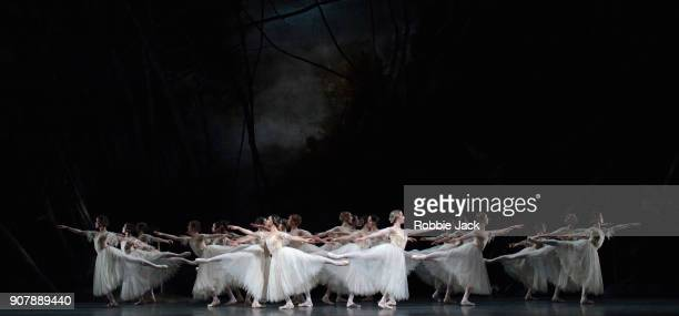 Artists of the company in the Royal Ballet's production of Peter Wright's adaptation of Marius Petipa's Giselle at The Royal Opera House on January...