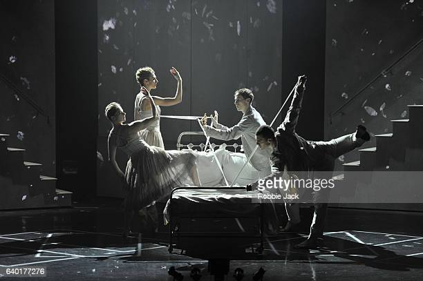 Artists of the company in the Royal Ballet's production of Phillip Glass and Javier De Frutos's Les Enfants Terribles at the Barbican on January 26...