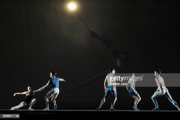 Artists of the company in the Royal Ballet's production of Wayne McGregor and Kim Brandstrup's Machina at the Royal Opera House Covent Garden in...
