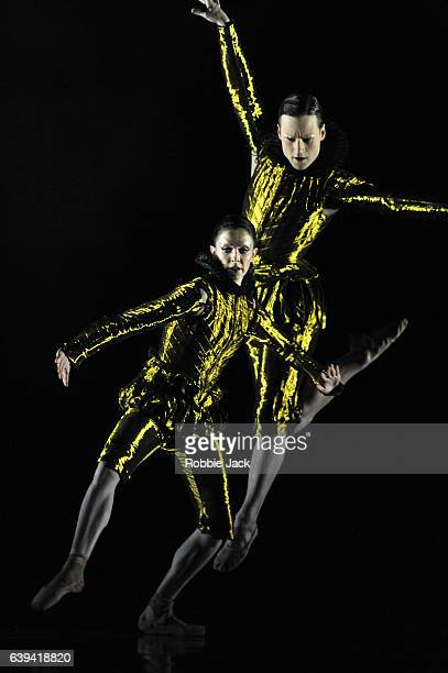 Artists of the company in the Royal Ballet's production of Wayne McGregor's Woolf Works at the Royal Opera House Covent Garden in London on January...