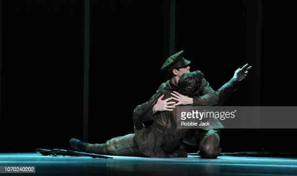 Artists of the company in The Royal Ballet'u2019s production of Alastair Marriott'u2019s The Unknown Soldier at The Royal Opera House on November 19...