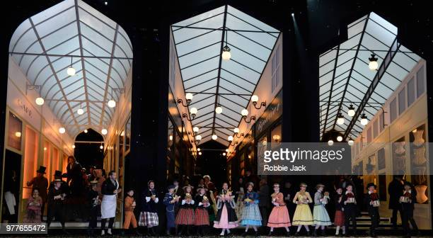 Artists of the company in the Royal Opera's production of Giacomo Puccini's La Boheme directed by Richard Jones and conducted by Nicola Luisotti at...