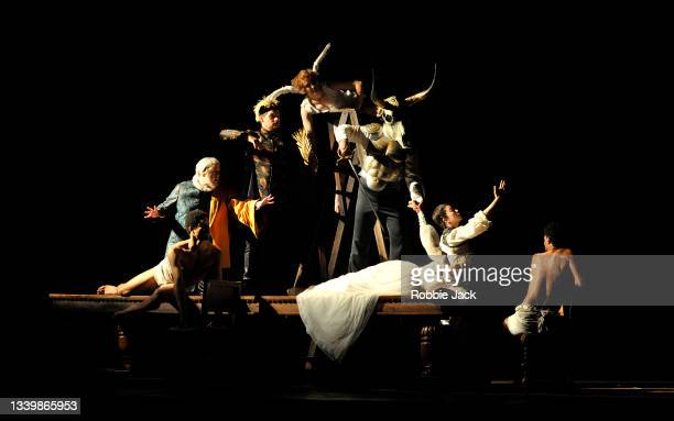 Artists of the company in The Royal Opera's production of Giuseppe Verdi's Rigoletto directed by Oliver Mears and conducted by Antonio Pappano at The...