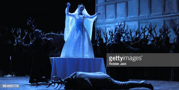 Artists of the company in the Royal Opera's production of Giuseppe Verdi's Falstaff directed by Robert Carsen and conducted by Nicola Luisotti at the...