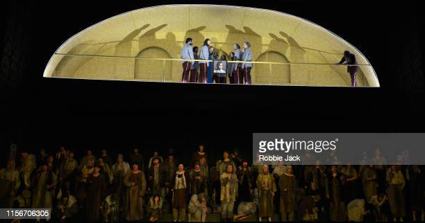 Artists of the company in The Royal Opera's production of Modest Musorgsky's Boris Godunov directed by Richard Jones and conducted by Marc Albrecht...