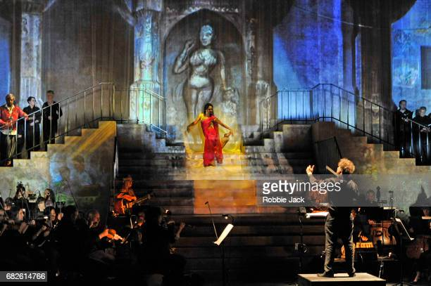 Artists of the company in the Royal Opera's production of Ravi Shankar's Sukanya directed by Suba Das and conducted by David Murphy at The Curve...