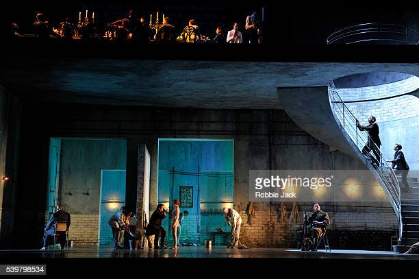 Artists of the company in the Royal Opera's production of Richard Strauss's Salome directed by David McVicar and conducted by Andris Nelsons at the...