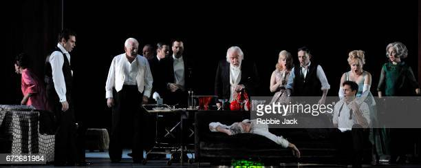 Artists of the company in the Royal Opera's production of Thomas Ades' The Exterminating Angel directed by Tom Cairns and conducted by Thomas Ades at...