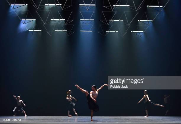 Artists of the company in Wayne McGregor's Autobiography at Sadler's Wells Theatre on July 26 2018 in London England