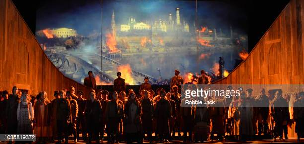 Artists of the company in Welsh National Opera's Production Of Prokofiev's War And Peace directed by David Pountney and conducted by Tomas Hanus at...