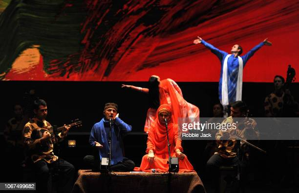 Artists of The Mark Morris Dance Group and Silkroad Ensemble performing Mark Morris's Layla and Majnun at Sadler's Wells Theatre on November 13 2018...