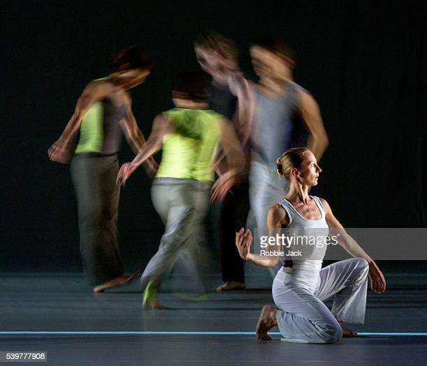 Artists of the Siobhan Davies Dance Company in the production Bird Song at Sadler's Wells