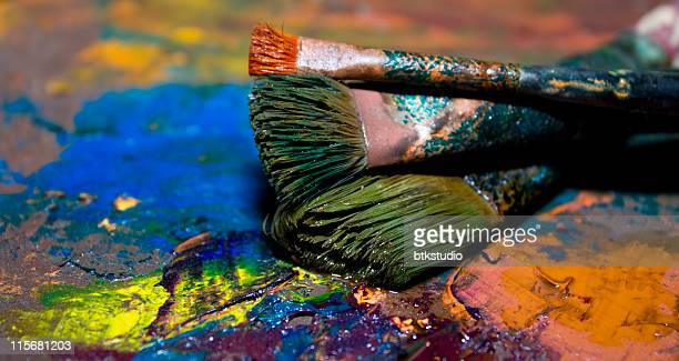 Artists oil painting palette