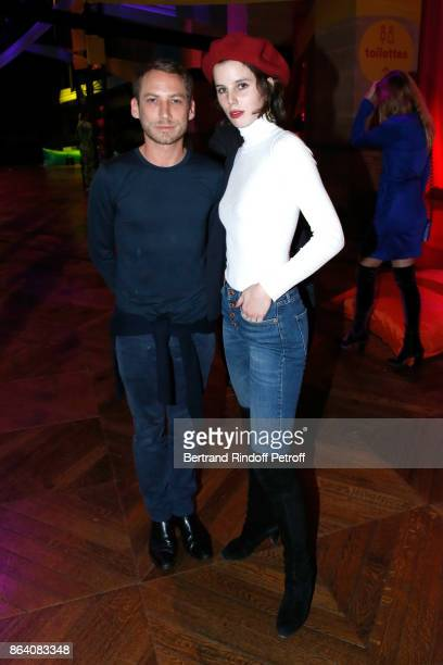 Artists Ora Ito and Alice GrenierNebout attend the 'Bal Jaune Elastique 2017' Dinner Party at Palais Brongniart during FIAC on October 20 2017 in...