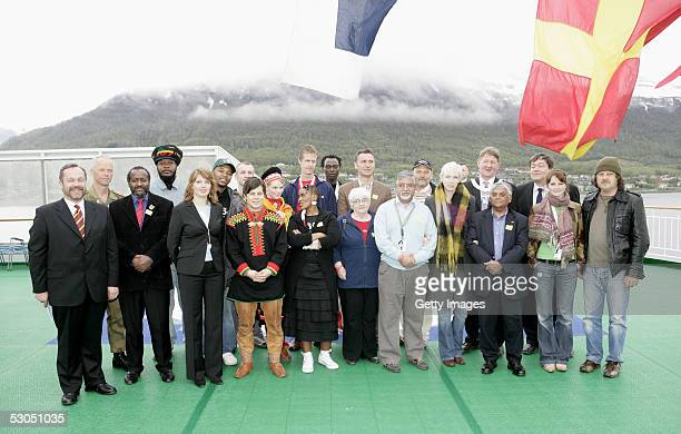 46664 artists organizers and sponsors including musicians Annie Lennox and Zucchero and chief executive of the Nelson Mandela Foundation John Samuel...