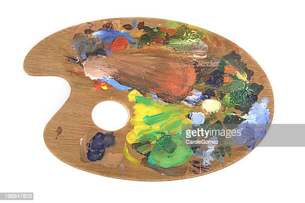 artists pallette - artist's palette stock pictures, royalty-free photos & images
