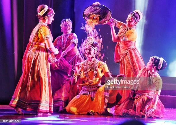 Artists perform a dance depicting life of Krishna from his birth to his emancipation organised by Shriram Bhartiya Kala Kendra ahead of Janmashtami...