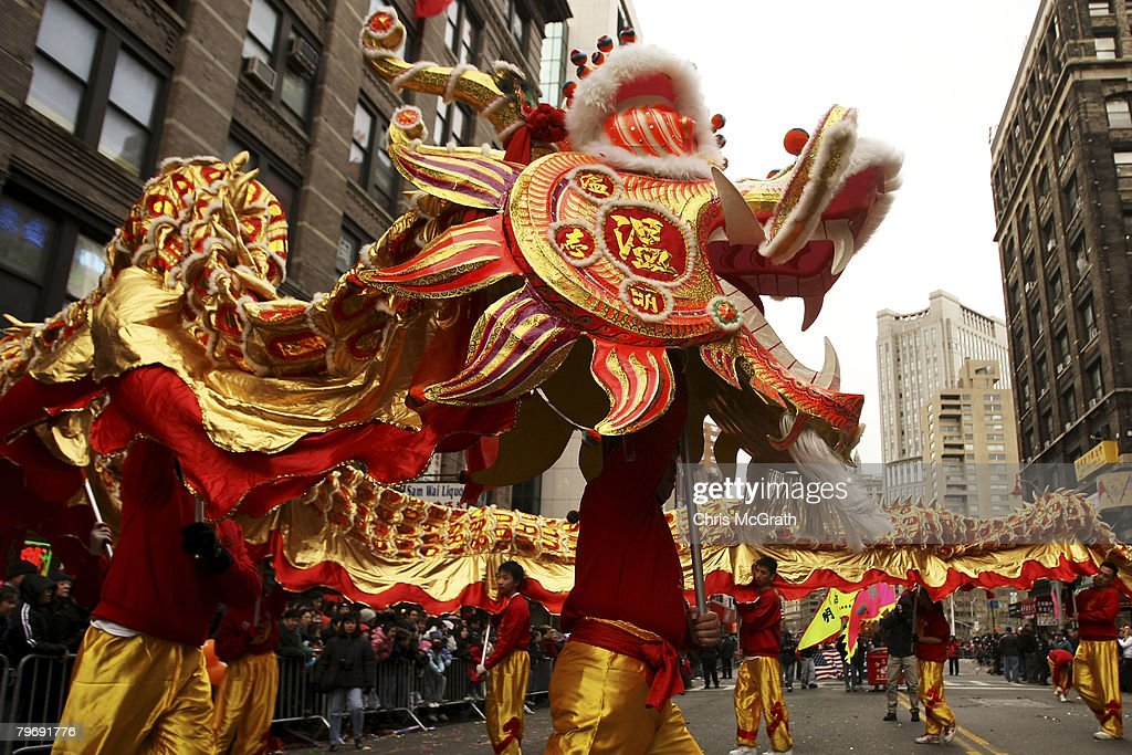 artists perform a dragon dance during the chinatown lunar new year parade february 10 2008 - Chinese New Year 2008