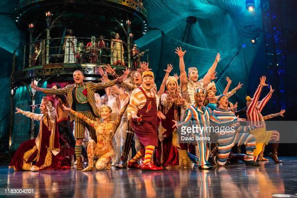 Artists perform during Cirque du Soleil presents KOOZA atPuerta del Angel stage on October 23 2018 in Madrid Spain